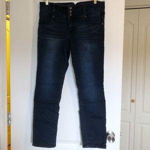 1822 Denim Midrise Dark Wash Skinny Jeans